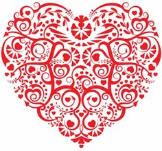 large and small heart embroidery design
