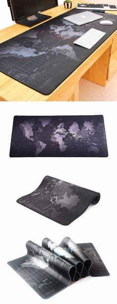 Giant Black World Map Mouse Pad @thistookmymoney