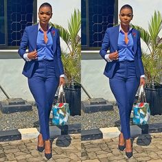 Get the best look of creative latest designs and african fashion styles that are recently trendy and . Classy Work Outfits, Office Outfits, Work Casual, Chic Outfits, Casual Office, Vest Outfits, Corporate Attire, Business Casual Attire, Suits For Women