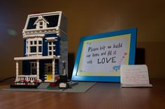 Our Lego guestbook. <3