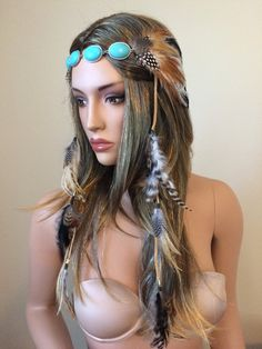Indian Feather Headdress Feather Crown Native Crown by Dollyiance