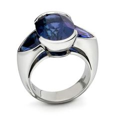 Platinum cocktail ring by Monile