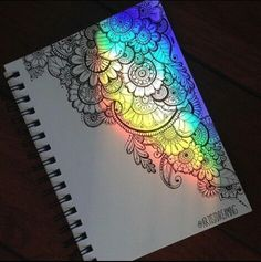 Imagem de rainbow, art, and mandala