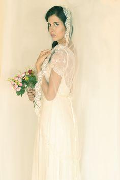 Abigail -Romantic wedding dress with lace top and chiffon skirt, boho wedding dress, backless wedding dress, beach wedding dress Casual Wedding, Boho Wedding Dress, Lace Wedding, Wedding Dresses, Chiffon Skirt, Dress Making, Bridal Gowns, Lace Dress, Flower Girl Dresses