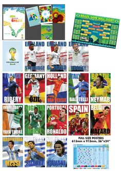 Amazing selection of World Cup posters available at SportsPosterWarehouse.com!