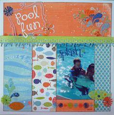 """Pool Fun"" layout by Janet Zeppa, Design Team member."
