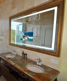 Photo Album For Website Stanford Bathroom Mirror TV with a hidden LED HDTV es in eight standard sizes and can be upgraded with many custom options