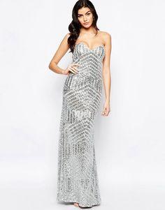 Forever+Unique+Celine+Bandeau+Fishtail+Maxi+Dress