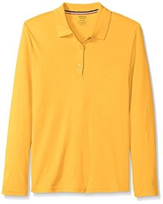 French Toast Girls' Long Sleeve Interlock Polo with Picot Collar - Cotton blend pique 50 wash tested for comfort that lasts Tag-free French Toast School Uniforms, Polo Tees, School Uniform Girls, Latest Fashion Trends, Girl Fashion, Girl Outfits, Long Sleeve, Sleeves, Mens Tops