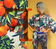 Jungle fever trend, thanks Jane for the printed kimono.  Floral trousers are from my collection Moonface by Valentine Vu.