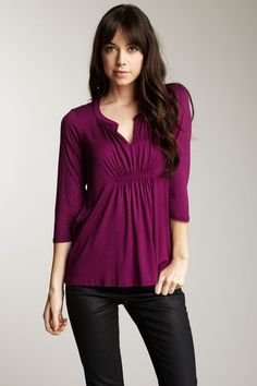 this looks like yala's amaranth color! love the top and the way it gathers in the front
