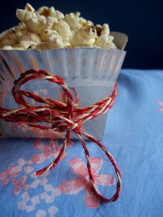 Great popcorn box idea add hot chocolate or soda and you have a yummy festive movie treat