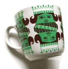 Arabia Kuningas Vintage Cups, Vintage Dishes, Retro Vintage, Stig Lindberg, China Painting, Finland, Scandinavian, Objects, Design Inspiration