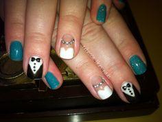 Bride and Groom nail art @ rebecca likes nails