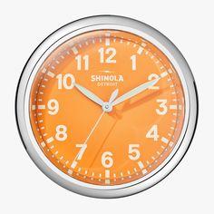Electric|Runwell Clock Orange | Shinola® Detroit