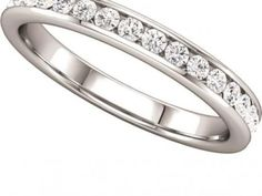 Wedding Band  $1,425.00 STYLE: 001-110-00322 14K WG Band 3/8 ctw SI2-SI3 GH matching semi 122090-3C http://www.theringbygoldgals.com/