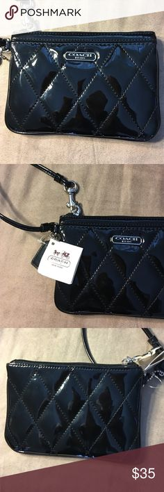 Coach small wristlet Coach wristlet in black new never used. No low ball offers and no trades Coach Accessories Key & Card Holders