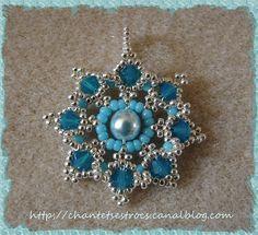 lovely beadwoven pendant