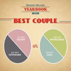 How cute!  2013's most favorite color pairings from Sherwin Williams