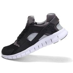 best sneakers 364a7 0529a Mens Nike Huarache Free 2012 Black White Dark Grey Shoes Nike Shoes Cheap, Cheap  Nike