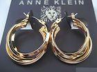 Anne Klein Gold Tone Small Triple Hoop Earrings Fashion Designer New - http://designerjewelrygalleria.com/anne-klein-jewelry/anne-klein-earrings/anne-klein-gold-tone-small-triple-hoop-earrings-fashion-designer-new-2/
