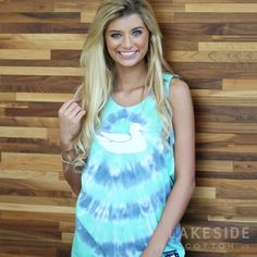 Tie Dye Tank in Mint | Lakeside Cotton Lakeside Cotton, Marley Lilly, Southern Marsh, Monogram Gifts, Jewelry Gifts, Tie Dye, Mint, Unique, Clothes