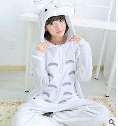 9fd40a369 Totoro pajamas women Onesies for adults Flannel Animal pajamas Totoro  sleepwear femmei mujer pijamas enteros