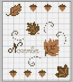 Autumn perler bead pattern