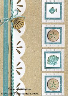 card by Jody Gustafson.... CUTE :) BEACH