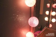Fun Bright Lab Lights used as a nightlight in a kid's room! They glow! Living Solutions Blog