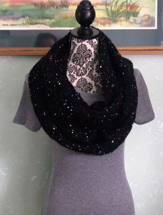 A personal favorite from my Etsy shop https://www.etsy.com/listing/479435261/black-and-mlti-color-sequin-infinity
