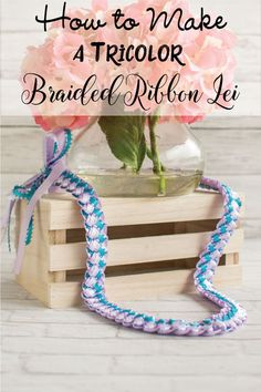 Discover how to make a tricolor braided ribbon lei with tricot accents! Great for homecoming, graduation, and other celebrations