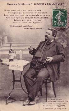 Advertising postcard promoting the   health benefits of Cusenier's Absinthe Oxygénée #absinthe #art