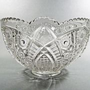 EAPG Indiana Glass 123 aka Paneled Daisies and  Fine Cut  Center Bowl