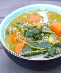 Detoxifying Kale Lentil Soup