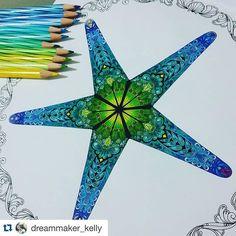 Fantastic!!!! By @dreammaker_kelly ❤️ #Repost @dreammaker_kelly with @repostapp. ・・・ .lostocean   starfish. #finallycompleted #toomanydelicatedetail #starfish #coloringbookforadults #lostocean #johannabasford #secretgarden #coloring #color #art #escape #mycreativeescape #staedler #luna