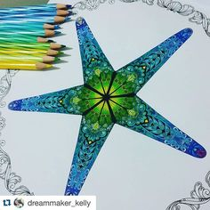 Fantastic!!!! By @dreammaker_kelly ❤️ #Repost @dreammaker_kelly with @repostapp. ・・・ .lostocean | starfish. #finallycompleted #toomanydelicatedetail #starfish #coloringbookforadults #lostocean #johannabasford #secretgarden #coloring #color #art #escape #mycreativeescape #staedler #luna