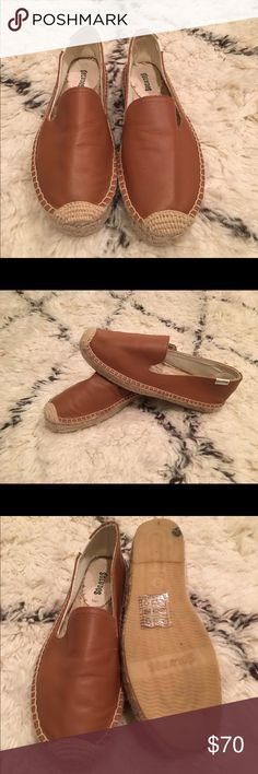 Soludos Camel Brown platform slip on 8 Only worn twice! True to size. Soludos Shoes Espadrilles