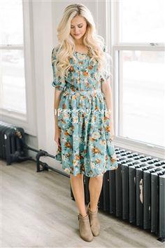 Sage Yellow Floral Modest Dres, Vintage Dress, Church Dresses, dresses for church, modest bridesmaids dresses, trendy modest, modest skirt, modest shirts, cute modest dresses, modest church dresses, mikarose, trendy boutique