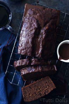 Chocolate and Irish Cream Pound Cake with ganache glaze