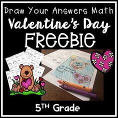 In this freebie students add and subtract fractions with unlike denominators, and their answers guide them through a Valentine's Day drawing. This worksheet comes with an answer key and a teacher's guide for ideas! This is Worksheet #1 -Fraction Addition with Unlike Denominators from my Valentine's Day Fraction Set, which comes with four
