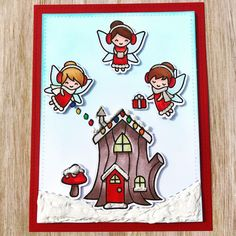 This card was created by : Didedi's Crafty Corner, using the Lawn Fawns Frosty Fairy Friends .