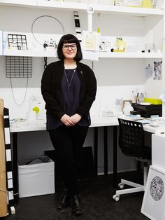 Elise Sheehan in her Melbourne studio. Photo – Annette O'Brien for The Design Files.