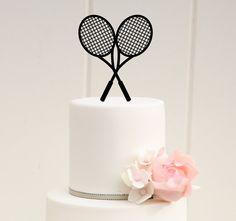 Crossed Tennis Rackets Tennis Birthday or by ThePinkOwlDesigns