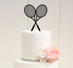 Crossed Tennis Rackets Tennis Birthday or by ThePinkOwlDesigns