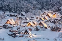 Shirakawa Go, Gifu, Amazing Places On Earth, Beautiful Places To Travel, Travel Around The World, Around The Worlds, Stations De Ski, Mountain Village, Beaux Villages