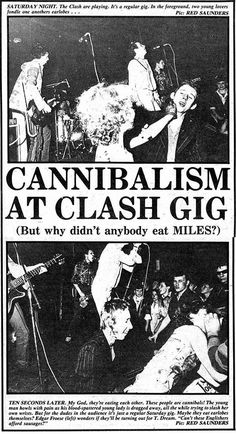 Cannibalism at Clash Gig - news clip featuring young Shane MacGowan