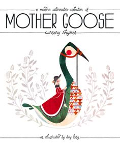 Mother Goose Book Cover by Livy Long, via Behance