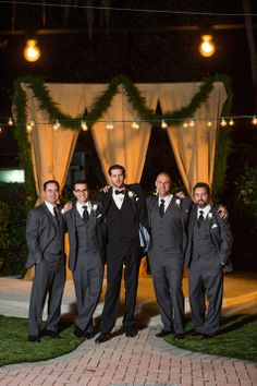 Black and gray suits for the groom & groomsmen // Dana Goodson Photography