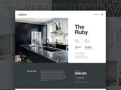 So in this post we decided to showcase some of the recent cool shots of 45 Real Estate Web & Mobile App UI Designs for inspiration. Web Mobile, Mobile App Ui, App Ui Design, Layout Design, Web Layout, Real Estate Website Design, Website Designs, Website Ideas, Minimal Web Design